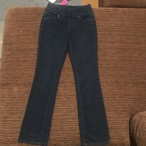 Jag jeans 2P high rise bootleg dark wash